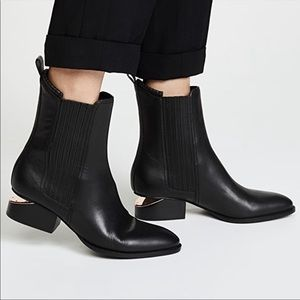 Alexander Wang Anouck Leather Ankle Boots